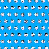 Cow - emoji pattern 38 stock illustration