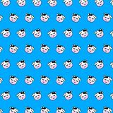 Cow - emoji pattern 44. Pattern of a emoji cow that can be used as a background, texture, prints or something else vector illustration