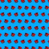 Cow - emoji pattern 69. Pattern of a emoji cow that can be used as a background, texture, prints or something else royalty free illustration