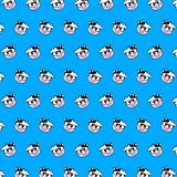 Cow - emoji pattern 59 stock illustration