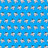 Cow - emoji pattern 20. Pattern of a emoji cow that can be used as a background, texture, prints or something else stock illustration