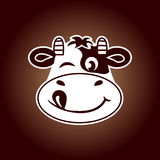 Cow face vector Royalty Free Stock Photo