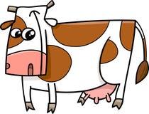 Cow farm animal cartoon. Cartoon Illustration of Funny Cow Farm Animal Character Royalty Free Stock Images