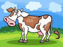 Cow farm animal cartoon illustration Royalty Free Stock Image