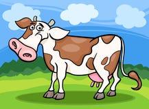 Cow farm animal cartoon illustration Royalty Free Stock Image