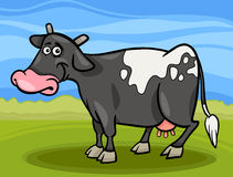 Cow farm animal cartoon illustration Stock Photo