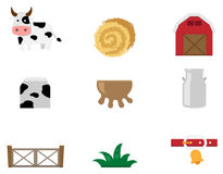 Cow farm icon  Stock Images