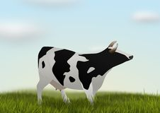 Cow in field. Illustration of a cow in a field of grass Royalty Free Stock Images