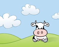 Cow in a Field. Sketchy style Royalty Free Stock Images