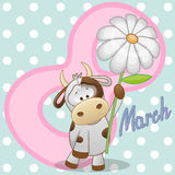 Cow with flower Stock Photos