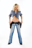 The Cow Girl Royalty Free Stock Images