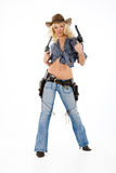 The Cow Girl Royalty Free Stock Image