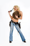 The Cow Girl Royalty Free Stock Photography