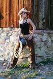 Cow-girl image stock