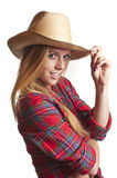 Cow-girl Photo libre de droits