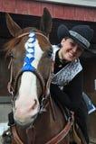 Cow-girl de fausse pierre image libre de droits