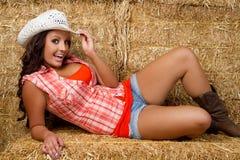Cow-girl de sourire photos stock
