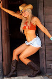 Cow-girl sexy Photos stock