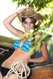 Cow-girl sexy Photographie stock libre de droits