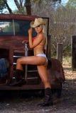 Cow-girl sexy Photographie stock libre de droits
