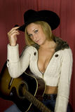 Cow-girl sexy de charme images stock