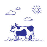 Cow grazes Royalty Free Stock Photo