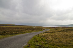 Cow Green Reservoir road. The road to the Cow Green Reservoir royalty free stock photo