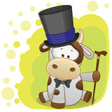 Cow in hat Royalty Free Stock Image