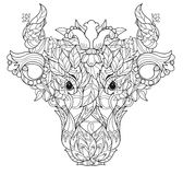 Cow head doodle on white background Royalty Free Stock Image