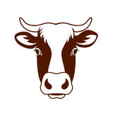 Cow head farm. Vector image of a cow head design on white background, Vector cow logo. Farm Animals Stock Photography