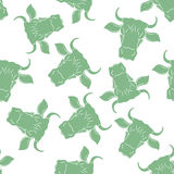 Cow Head Seamless Pattern. Vector. Abstract Cow Head Seamless Pattern. Vector illustration Royalty Free Illustration