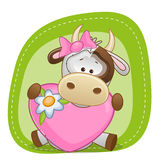 Cow with heart Stock Photography