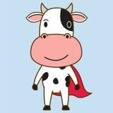 Cow hero mascot Stock Photography