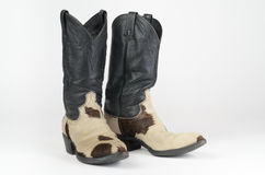 Cow Hide Cowboy Boots. Stock Photography
