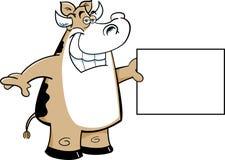 Cow holding a sign Stock Photos