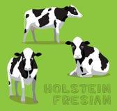 Cow Holstein Friesian Cartoon Vector Illustration Royalty Free Stock Photography