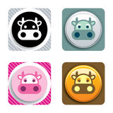 Cow Icon Royalty Free Stock Images