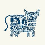 Cow icon Royalty Free Stock Photography