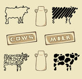 Cow Icons Stock Photos