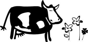 A cow illustration Stock Photography