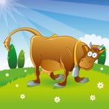 Cow Illustration Cartoon Stock Photo