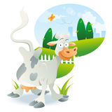 Cow Illustration Cartoon Royalty Free Stock Photography