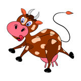 Cow illustration cartoon. Cow illustration character cartoon comic funny Stock Photography