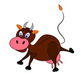 Cow illustration character. Comic funny Stock Image