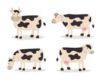 Cow illustration. Cow standing in different position illustration Vector Illustration