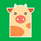 Cow illustration Royalty Free Stock Images