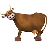 Cow, isolated on the white background Stock Photo