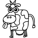 Cow kids coloring page Stock Photos