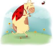 Cow - ladybird Stock Image