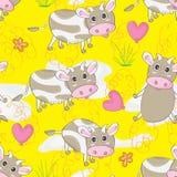 Cow Land Seamless Pattern_eps Stock Photo